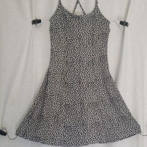 Betsey Johnson black and white printed mini dress